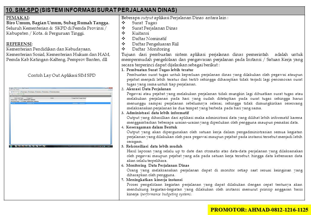 Contoh Lay Out Aplikasi SIM SPD