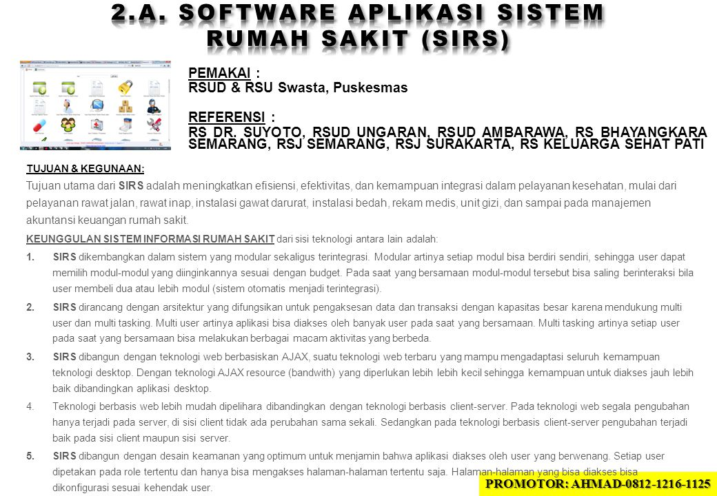 2.A. SOFTWARE APLIKASI sistem