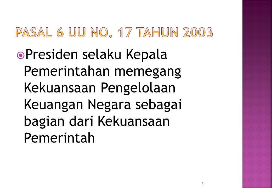 Pasal 6 UU No. 17 Tahun 2003
