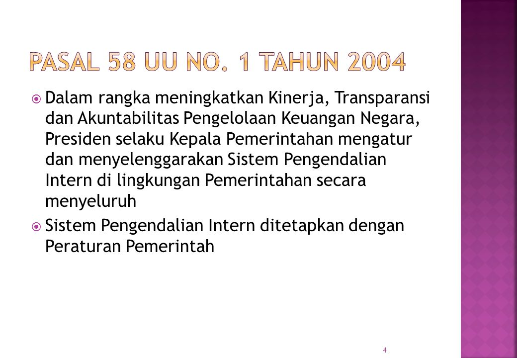 Pasal 58 UU No. 1 Tahun 2004