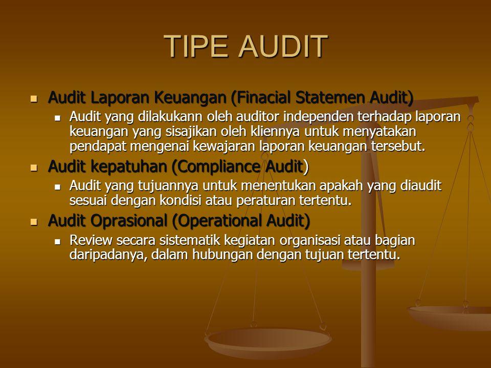 TIPE AUDIT Audit Laporan Keuangan (Finacial Statemen Audit)