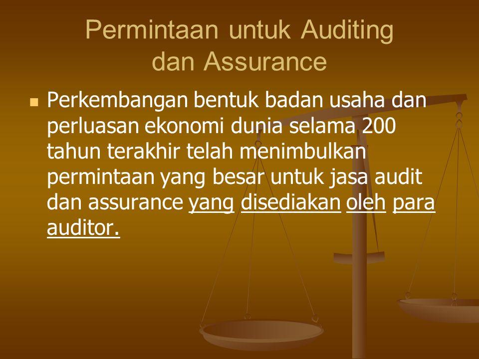 Permintaan untuk Auditing dan Assurance