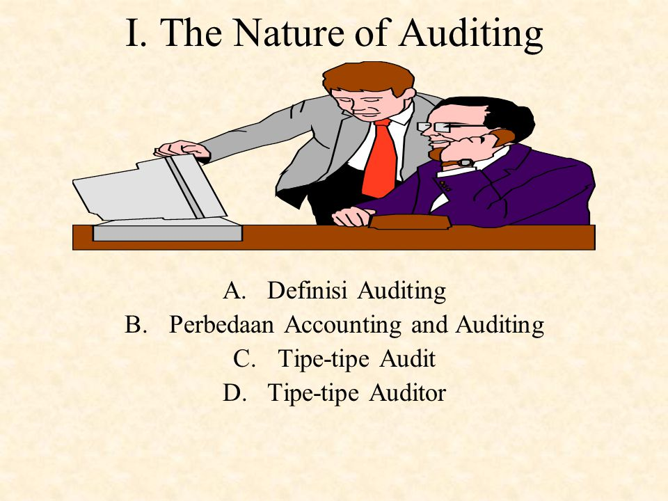 I. The Nature of Auditing
