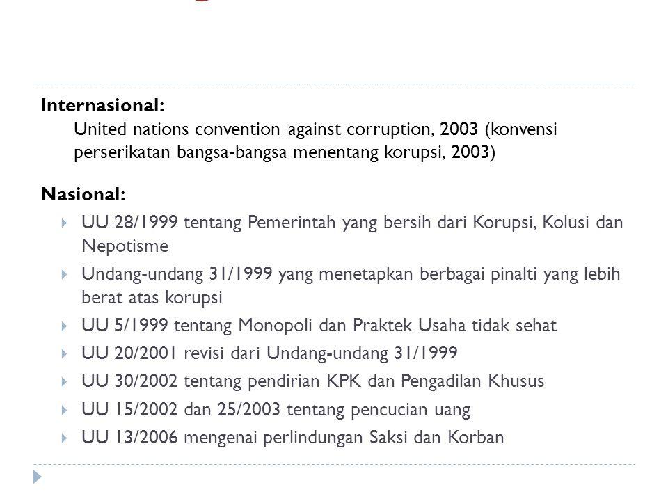Kerangka Hukum Internasional: