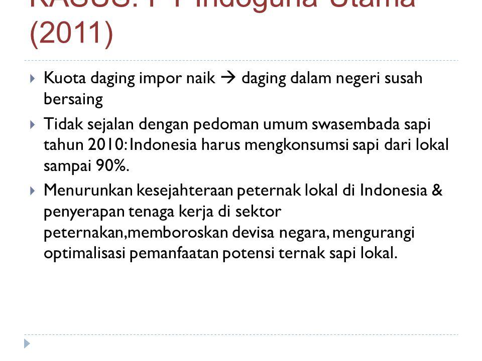 KASUS: PT Indoguna Utama (2011)