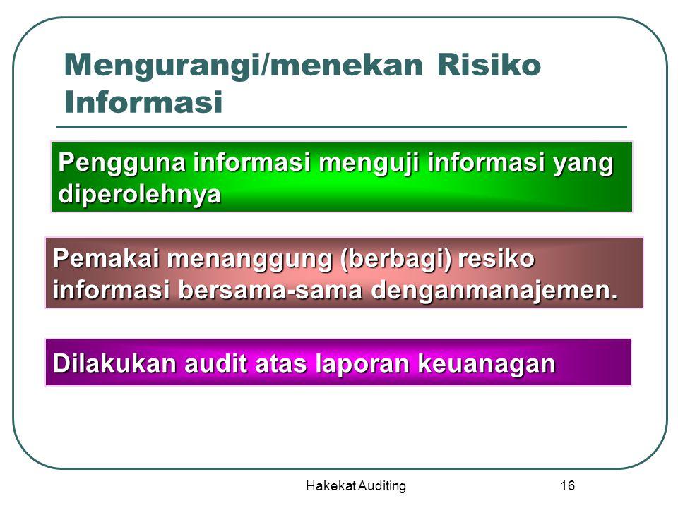 Mengurangi/menekan Risiko Informasi