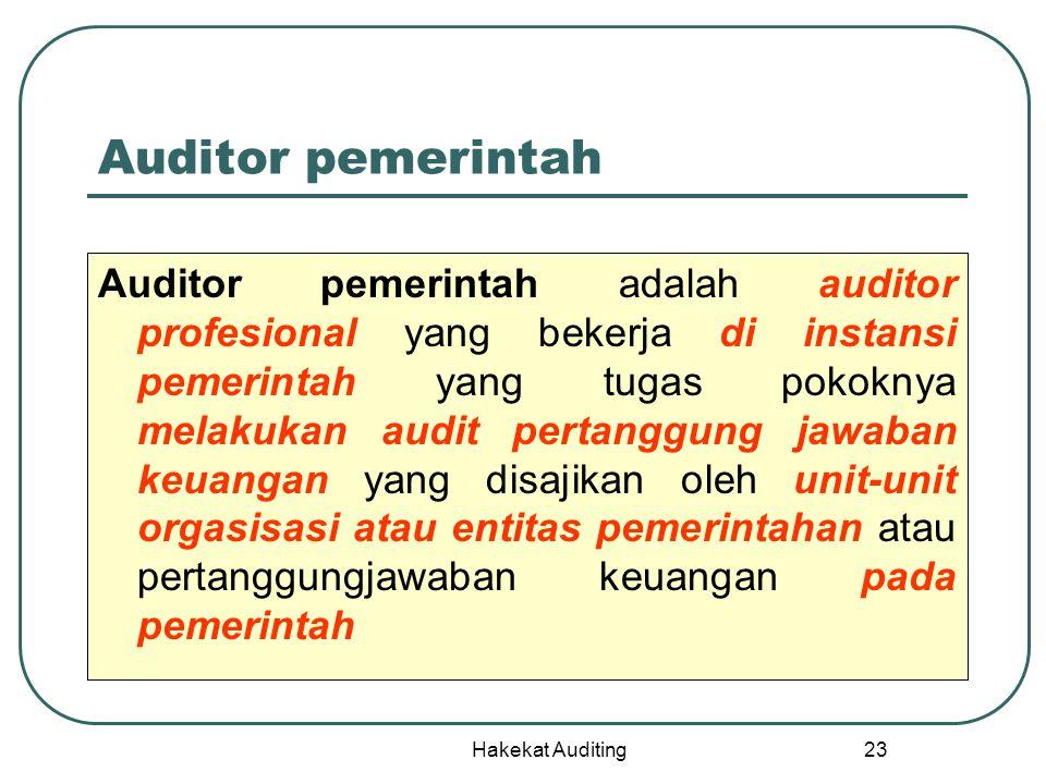 Auditor pemerintah