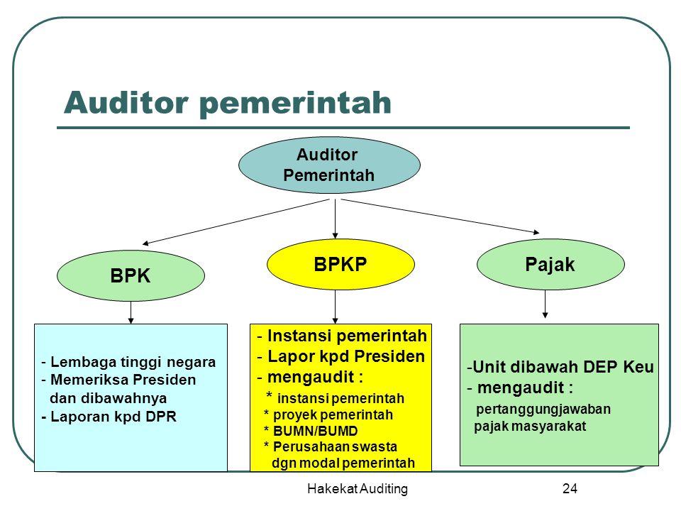 Auditor pemerintah BPKP Pajak BPK Auditor Pemerintah