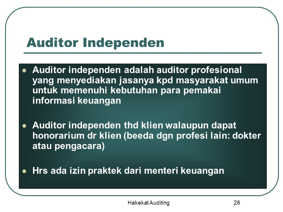 Auditor Independen