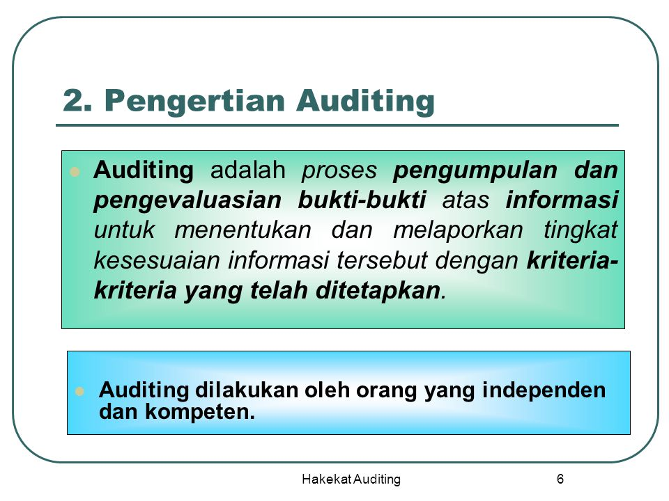 2. Pengertian Auditing