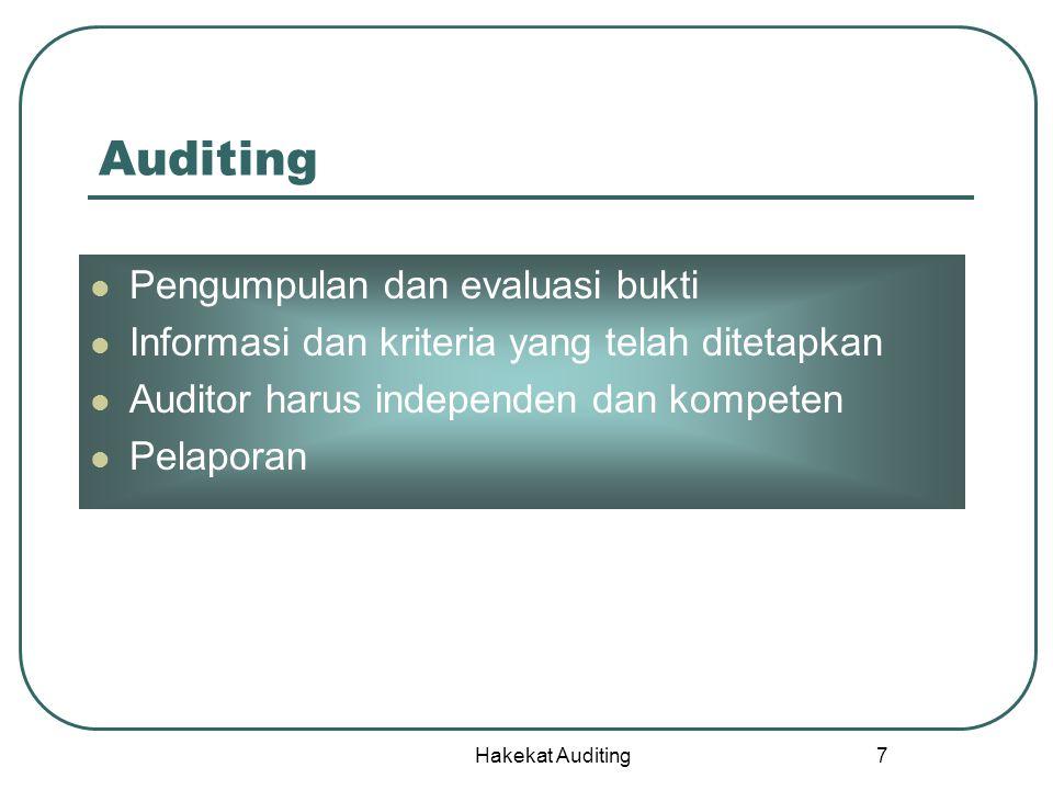 Auditing Pengumpulan dan evaluasi bukti