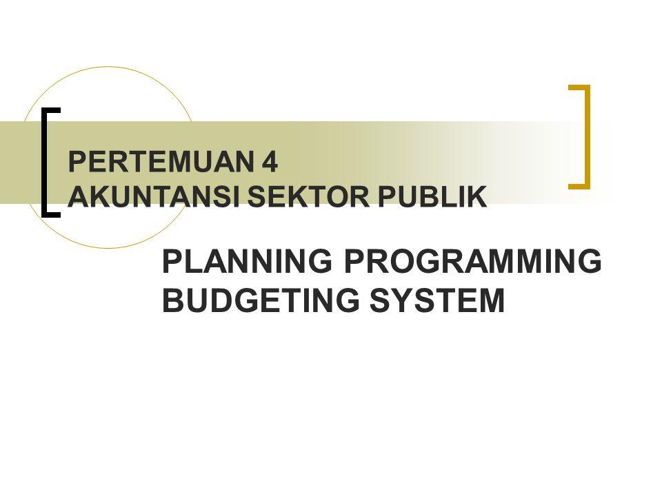 PLANNING PROGRAMMING BUDGETING SYSTEM