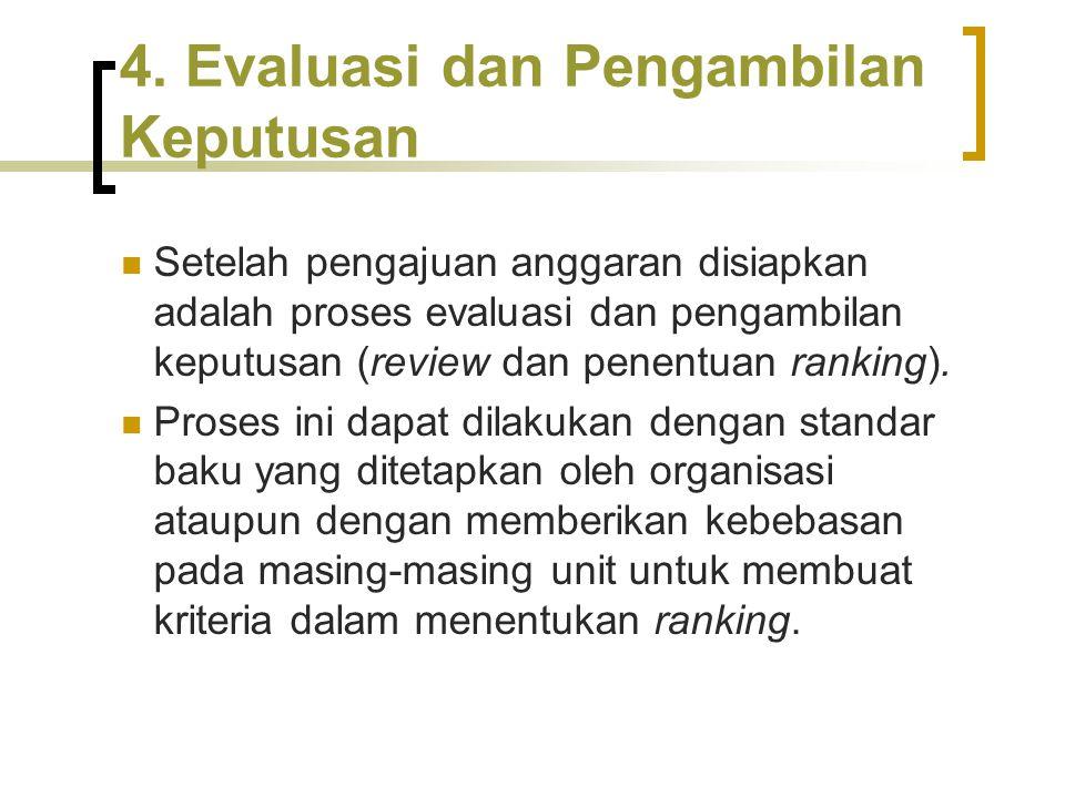 4. Evaluasi dan Pengambilan Keputusan