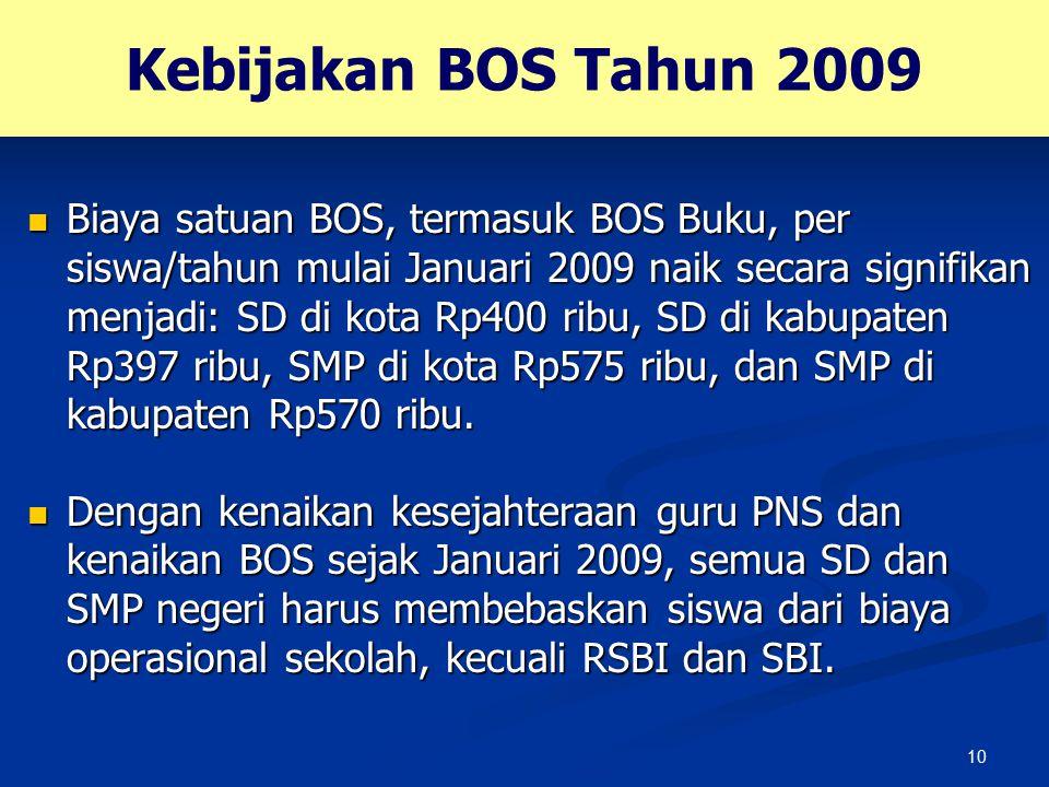 Kebijakan BOS Tahun 2009