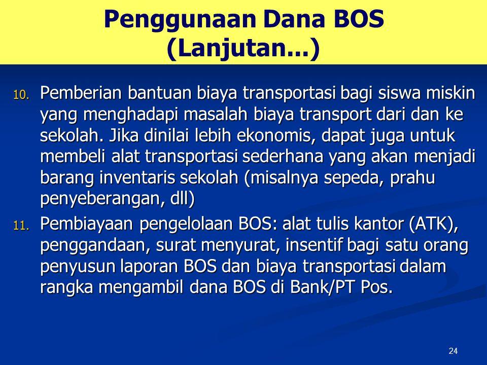 Penggunaan Dana BOS (Lanjutan...)