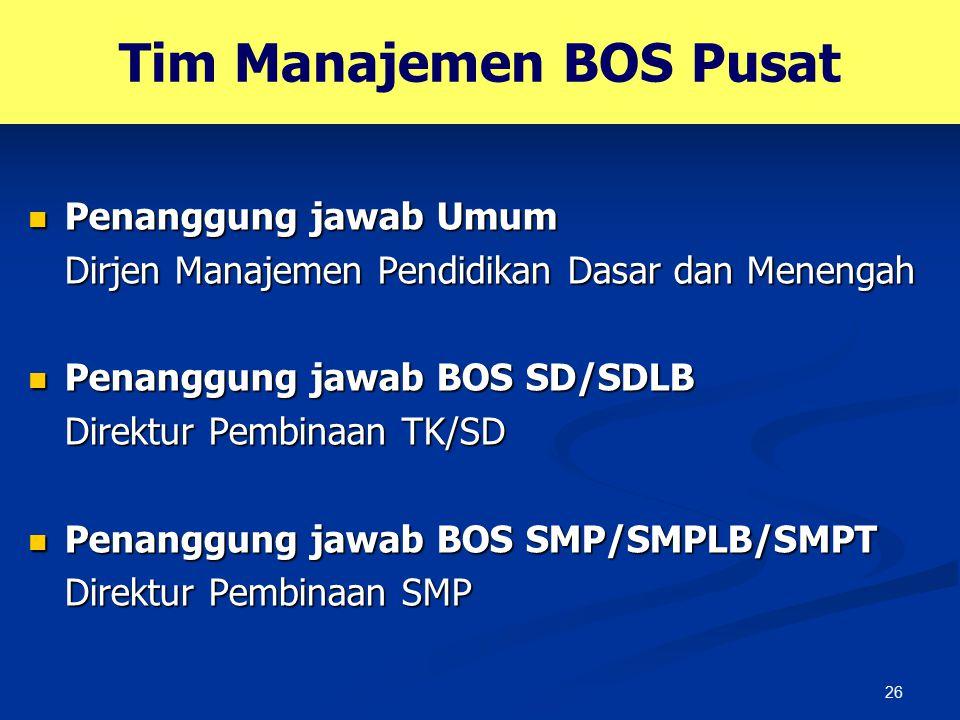 Tim Manajemen BOS Pusat