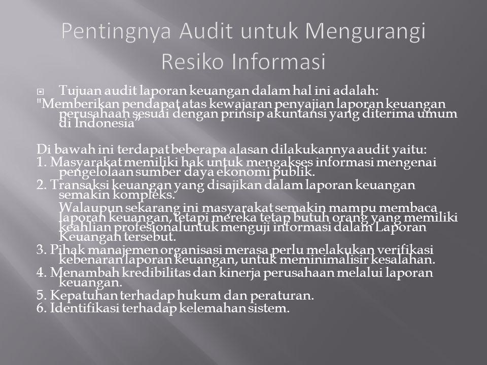 Pentingnya Audit untuk Mengurangi Resiko Informasi