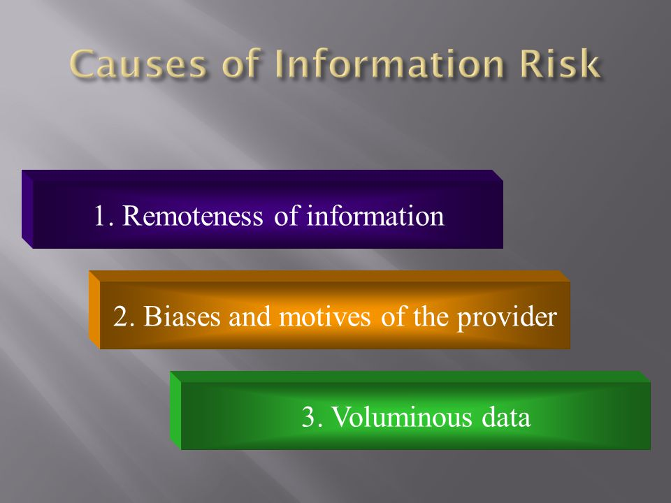 Causes of Information Risk