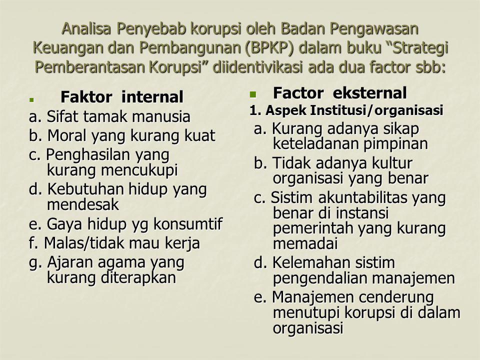 a. Kurang adanya sikap keteladanan pimpinan