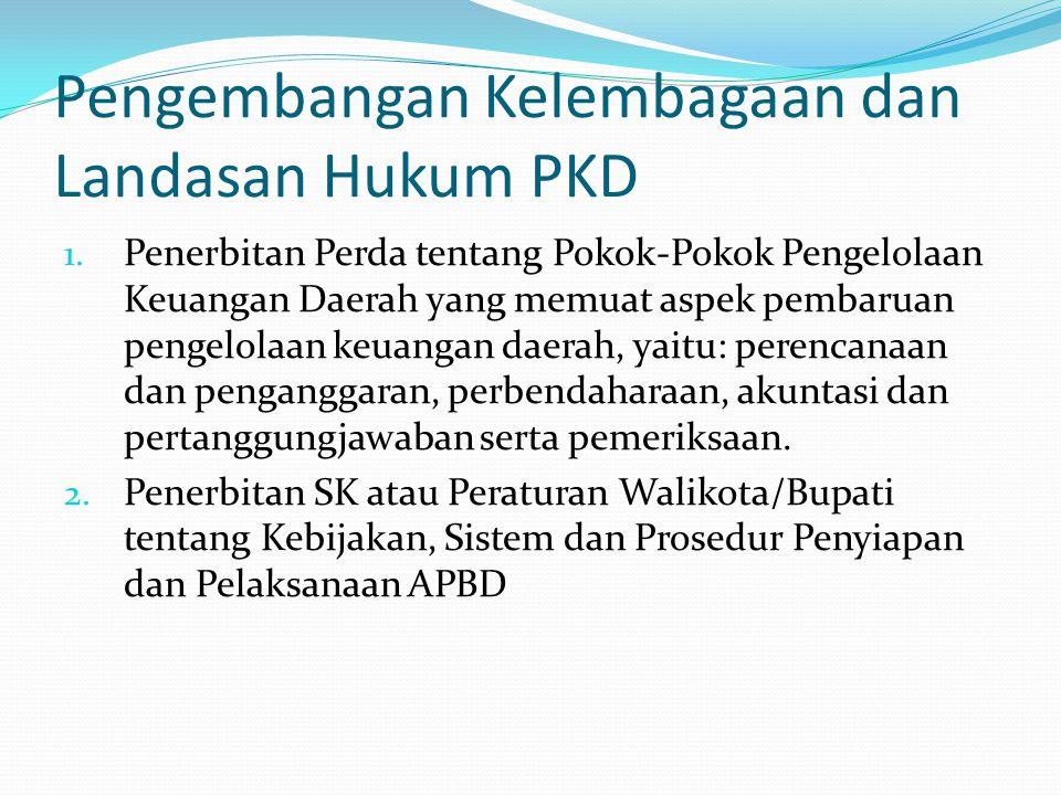 Pengembangan Kelembagaan dan Landasan Hukum PKD