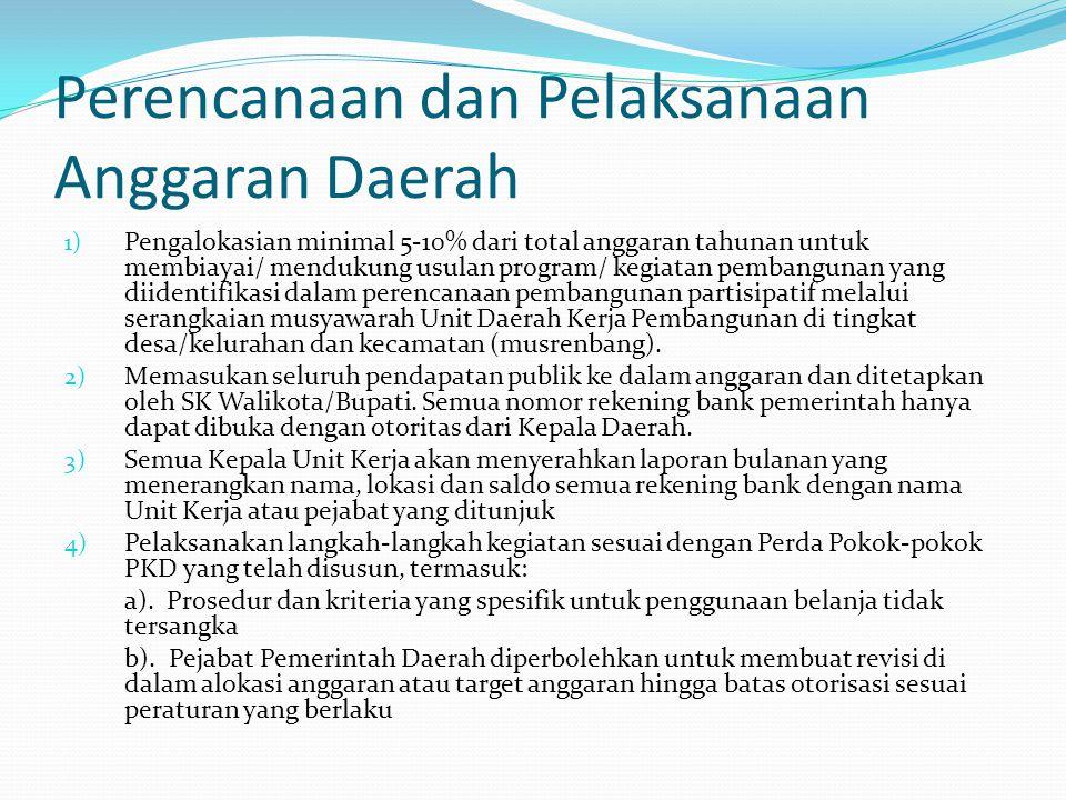 Perencanaan dan Pelaksanaan Anggaran Daerah