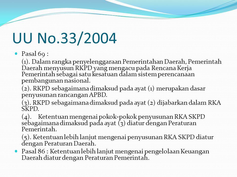 UU No.33/2004 Pasal 69 :