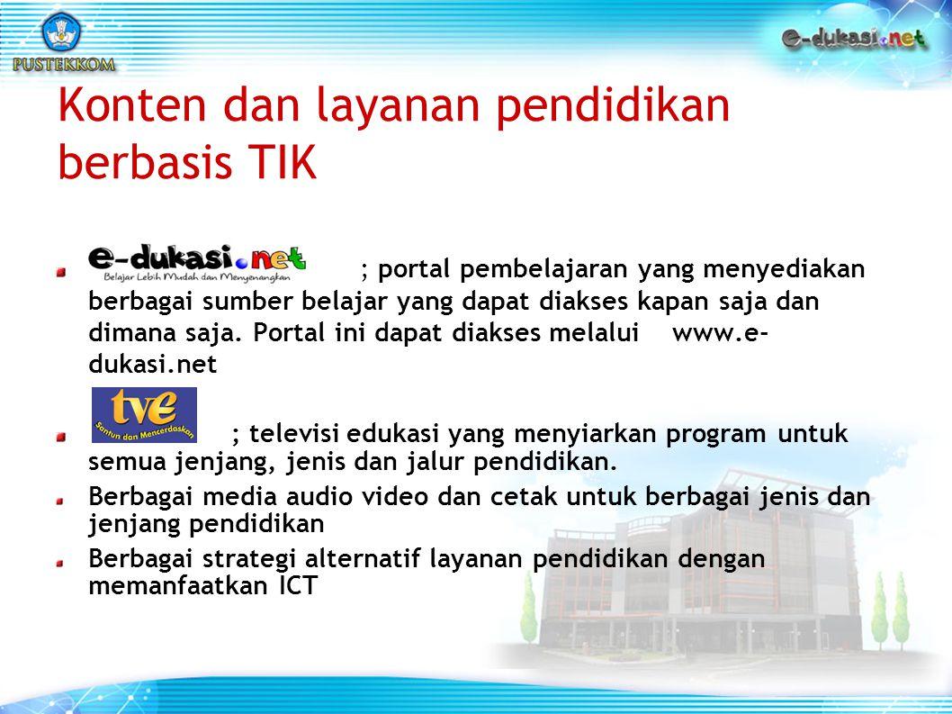 Konten dan layanan pendidikan berbasis TIK