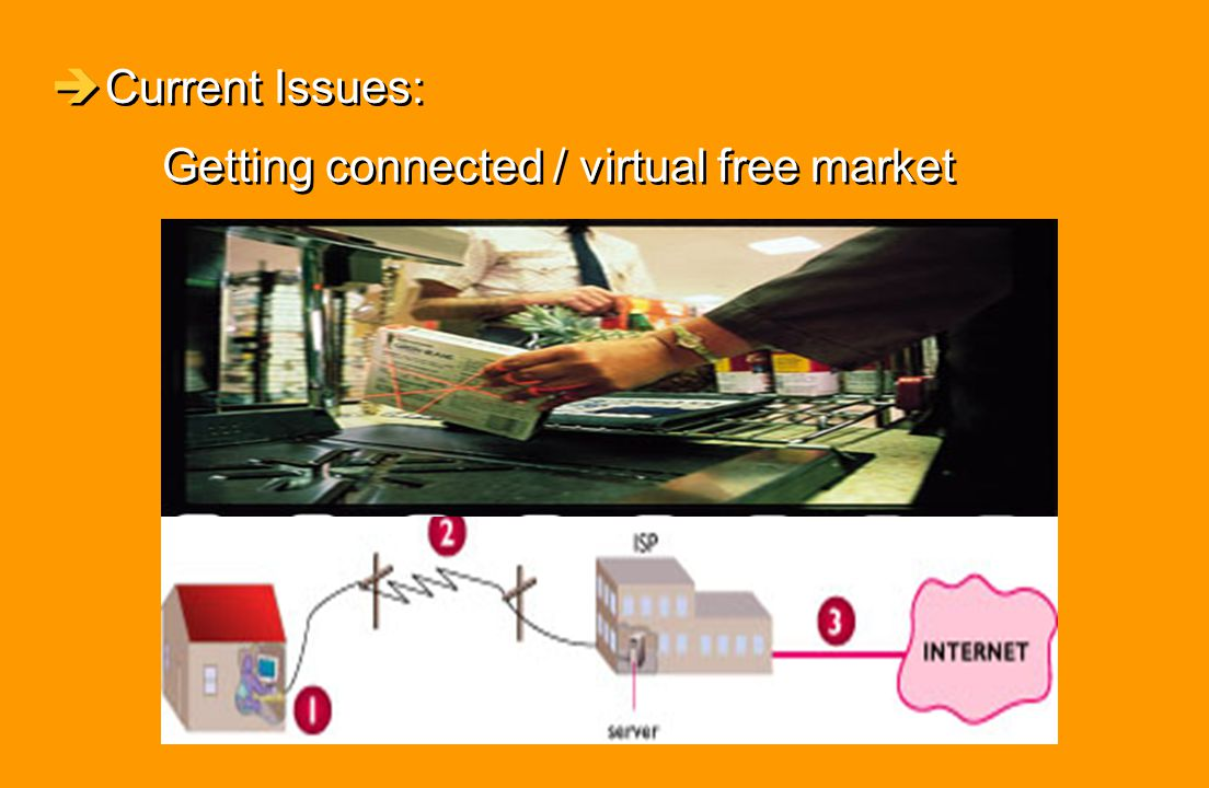 Current Issues: Getting connected / virtual free market