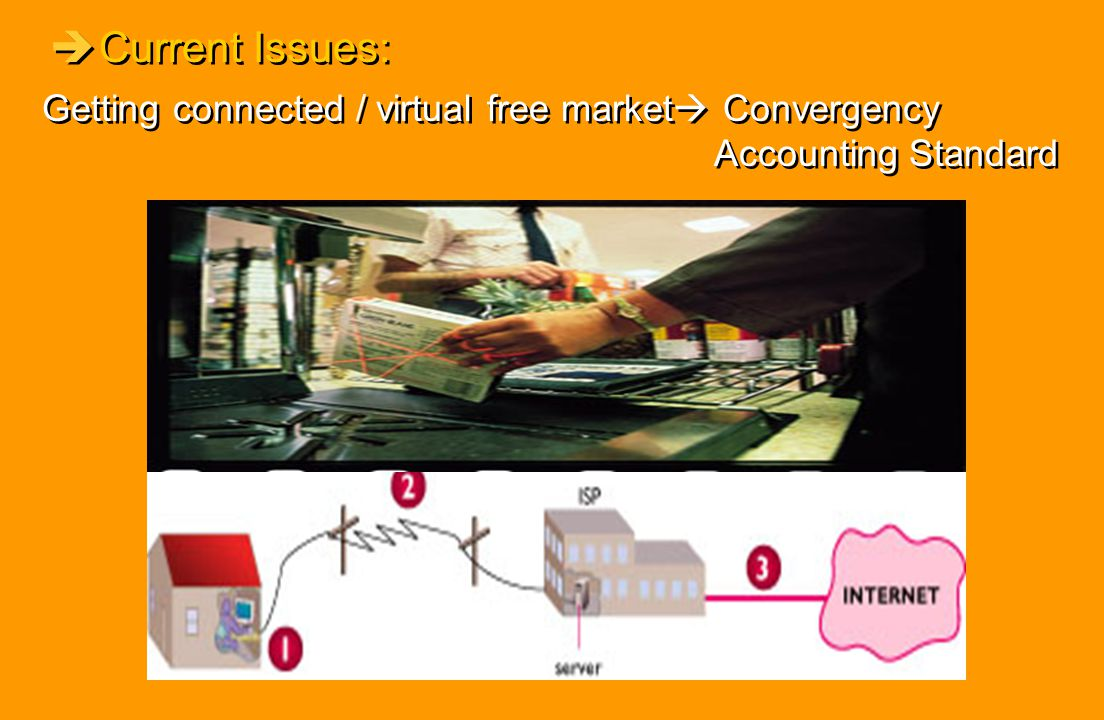 Current Issues: Getting connected / virtual free market Convergency Accounting Standard