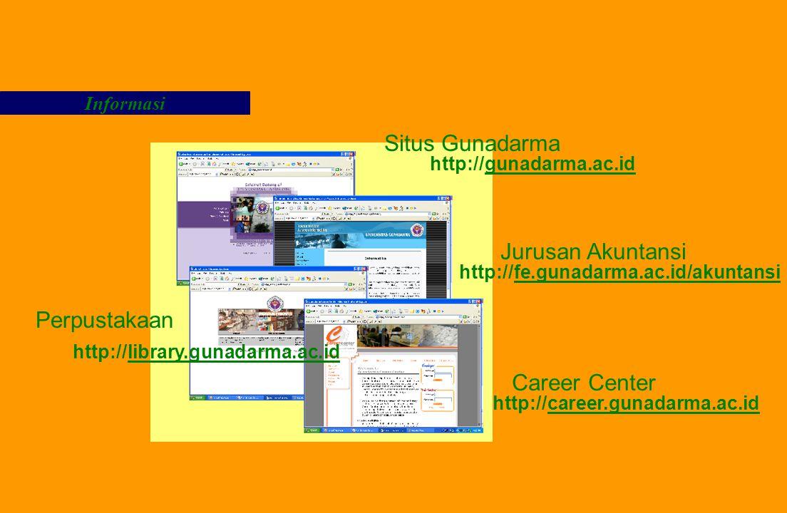 Situs Gunadarma Jurusan Akuntansi Perpustakaan Career Center Informasi