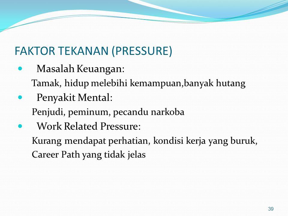 FAKTOR TEKANAN (PRESSURE)