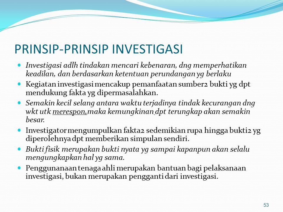 PRINSIP-PRINSIP INVESTIGASI