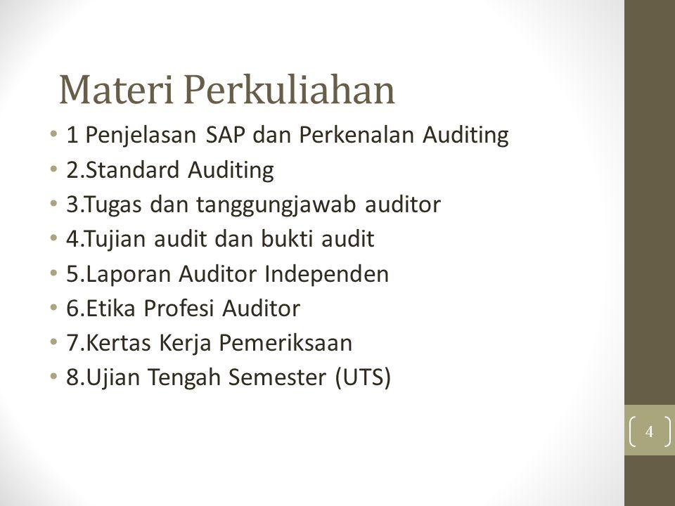Materi Perkuliahan 1 Penjelasan SAP dan Perkenalan Auditing