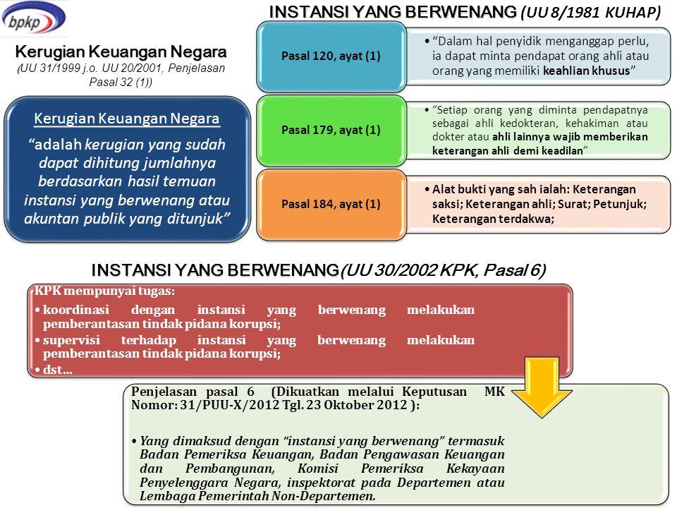 Instansi yang berwenang (UU 8/1981 KUHAP)