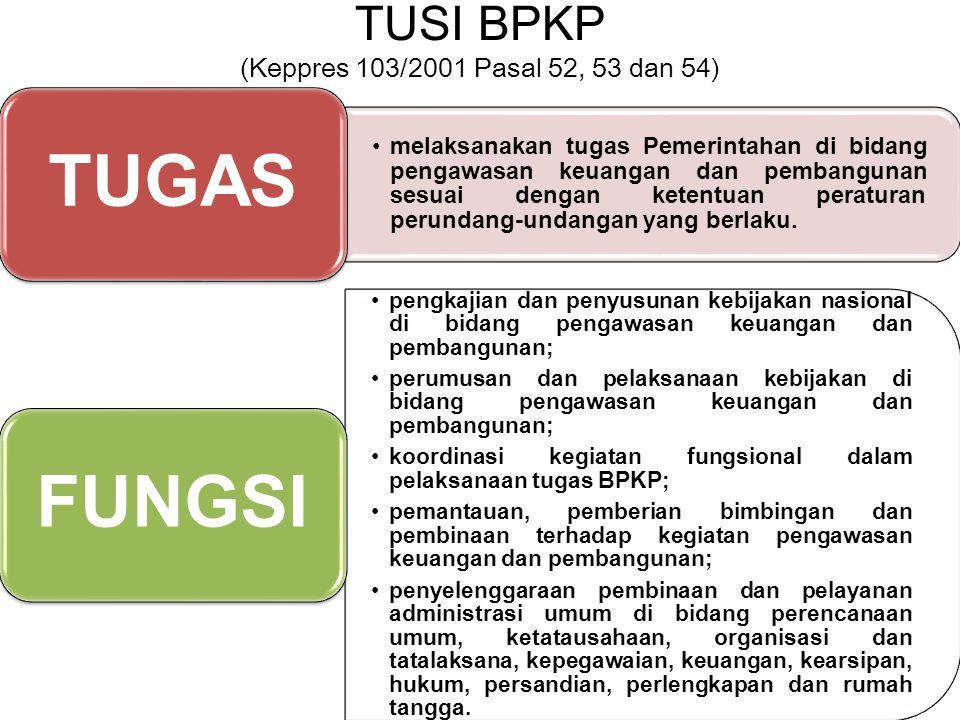 TUSI BPKP (Keppres 103/2001 Pasal 52, 53 dan 54)