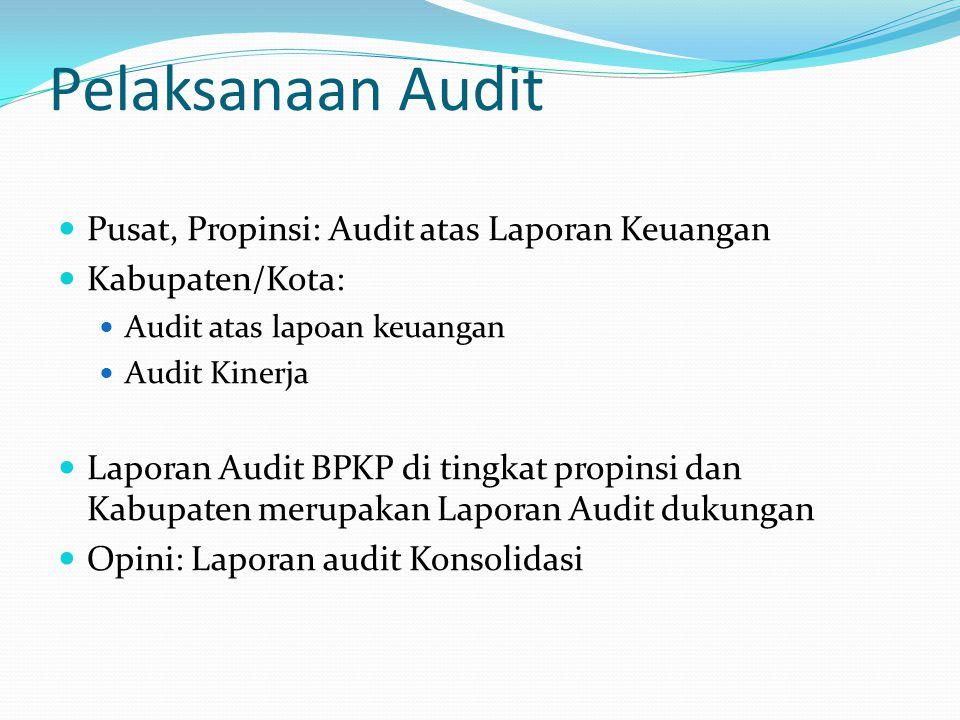 Pelaksanaan Audit Pusat, Propinsi: Audit atas Laporan Keuangan