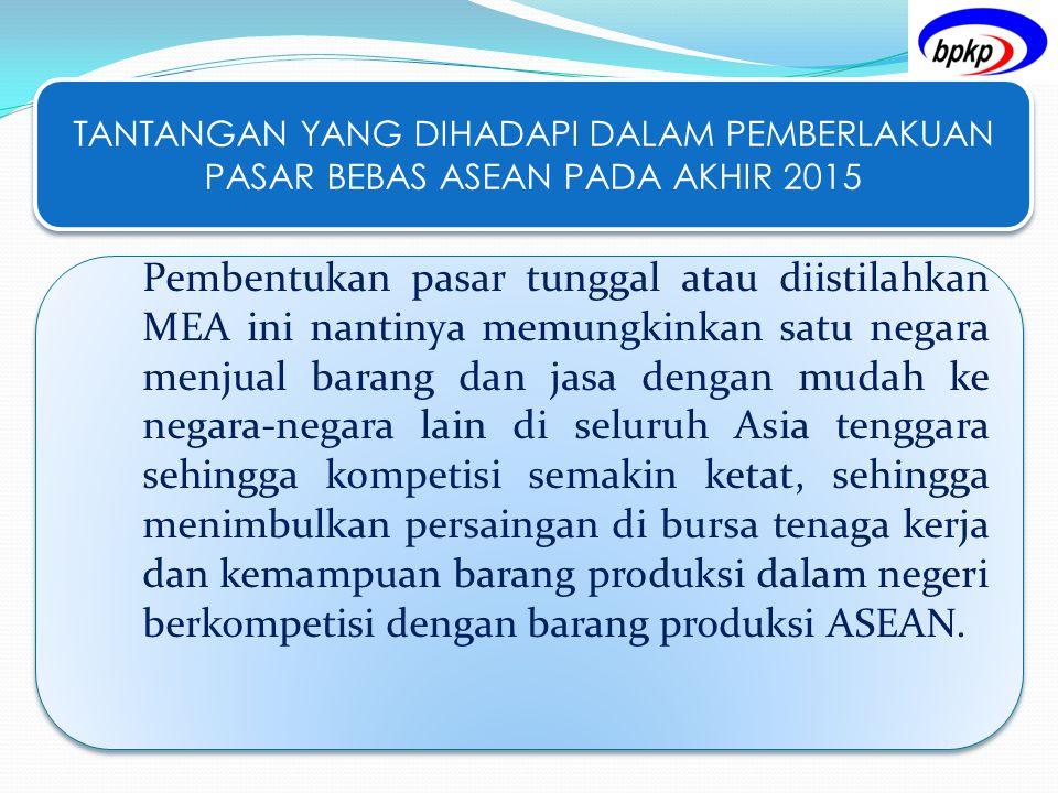 TANTANGAN YANG DIHADAPI DALAM PEMBERLAKUAN PASAR BEBAS ASEAN PADA AKHIR 2015