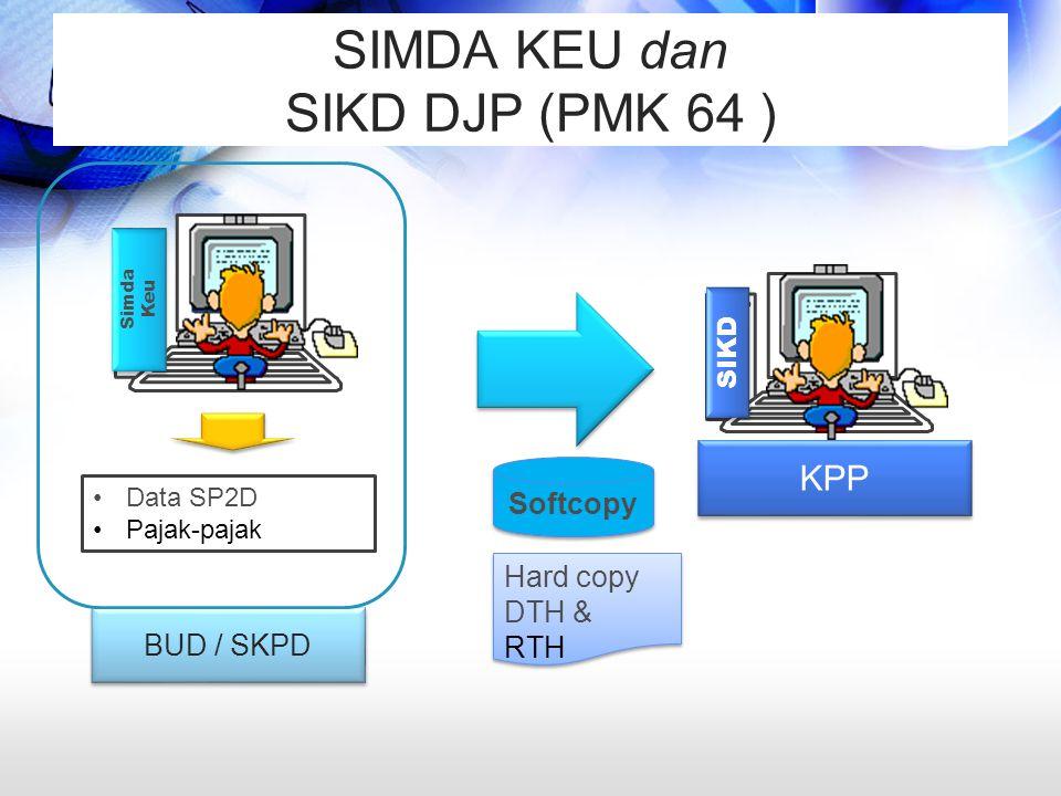 SIMDA KEU dan SIKD DJP (PMK 64 )