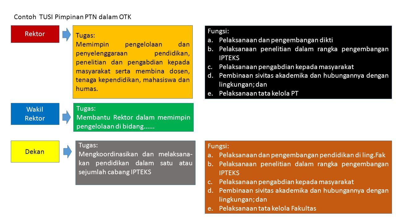 Contoh TUSI Pimpinan PTN dalam OTK