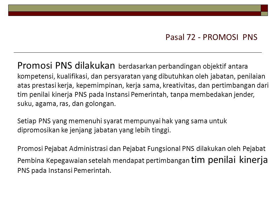 Pasal 72 - PROMOSI PNS