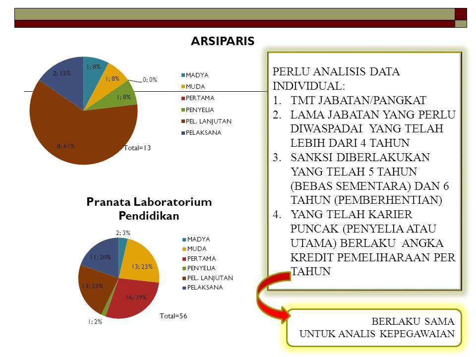 PERLU ANALISIS DATA INDIVIDUAL: TMT JABATAN/PANGKAT