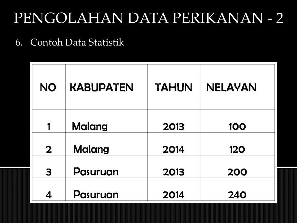 PENGOLAHAN DATA PERIKANAN - 2