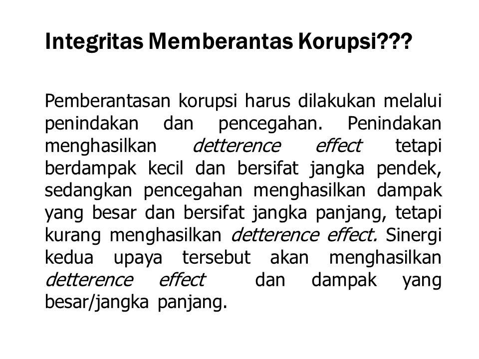 Integritas Memberantas Korupsi
