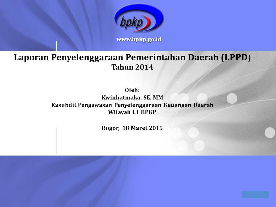 Laporan Penyelenggaraan Pemerintahan Daerah (LPPD) Tahun 2014 Oleh: Kwinhatmaka, SE.