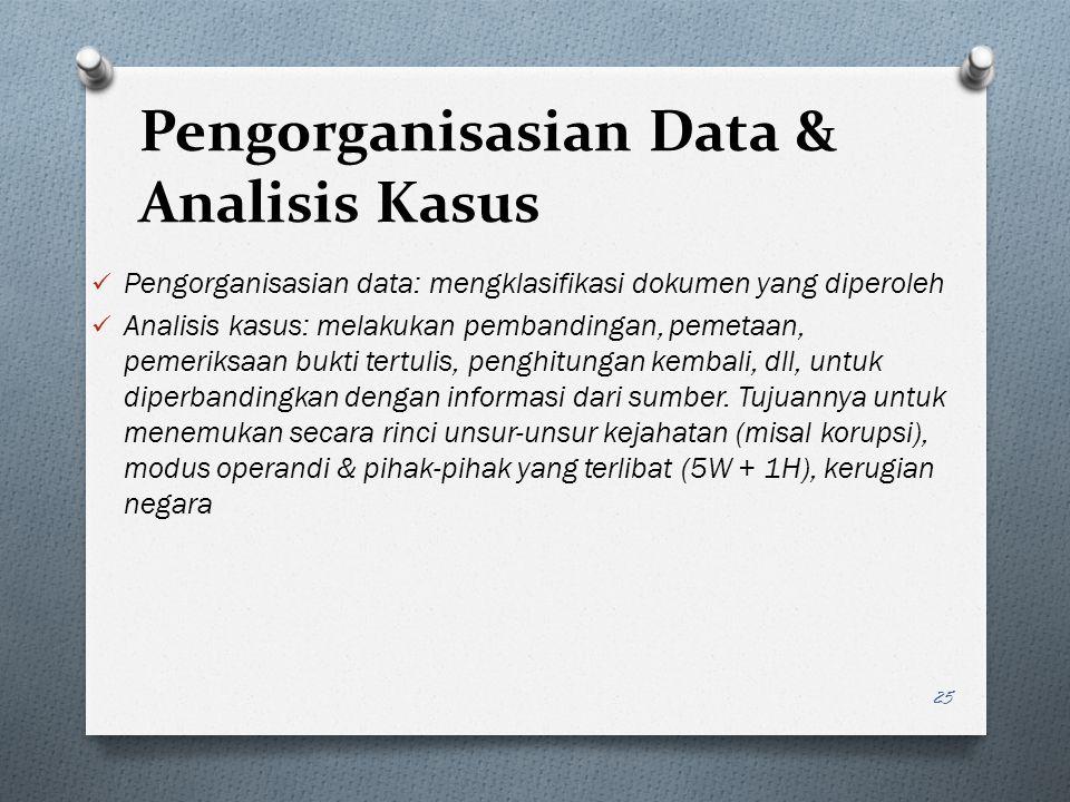 Pengorganisasian Data & Analisis Kasus