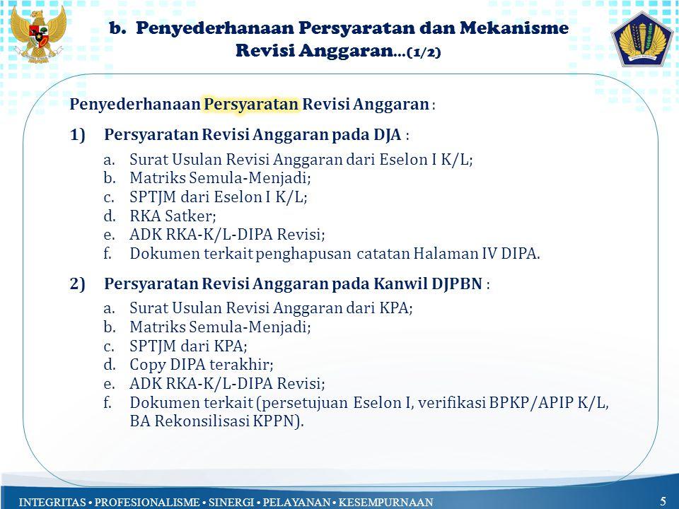 b. Penyederhanaan Persyaratan dan Mekanisme Revisi Anggaran...(1/2)