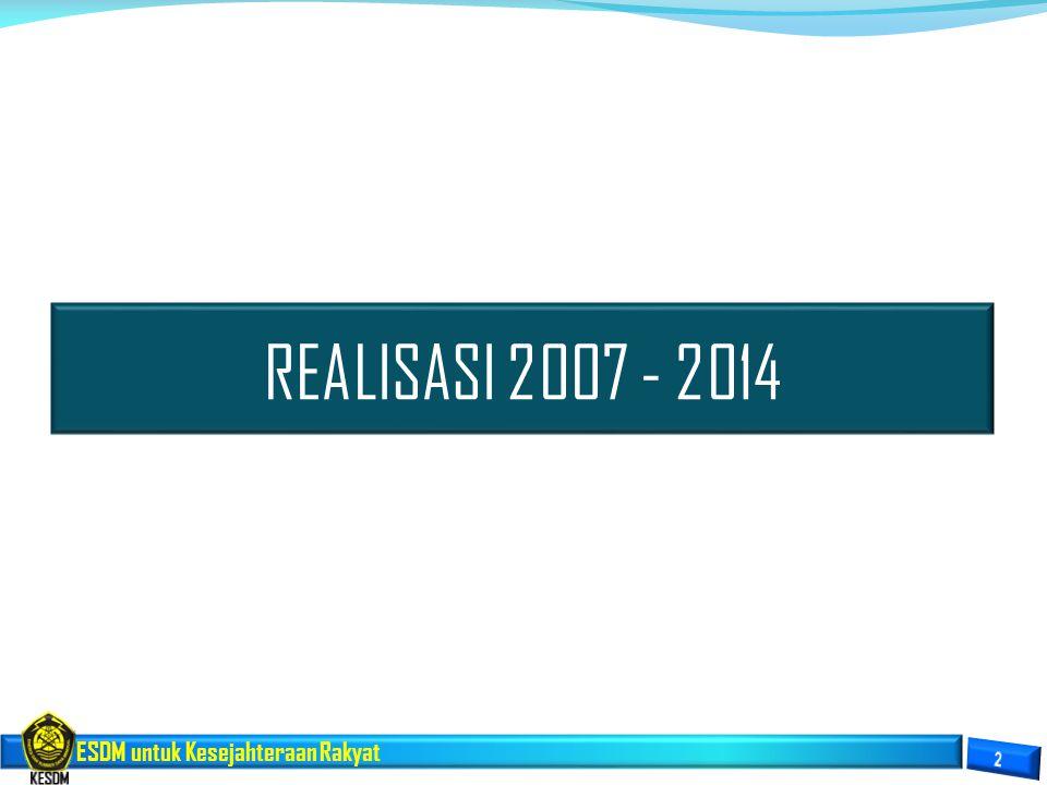 REALISASI 2007 - 2014