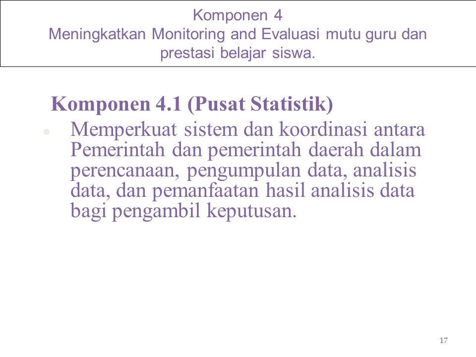 Komponen 4.1 (Pusat Statistik)