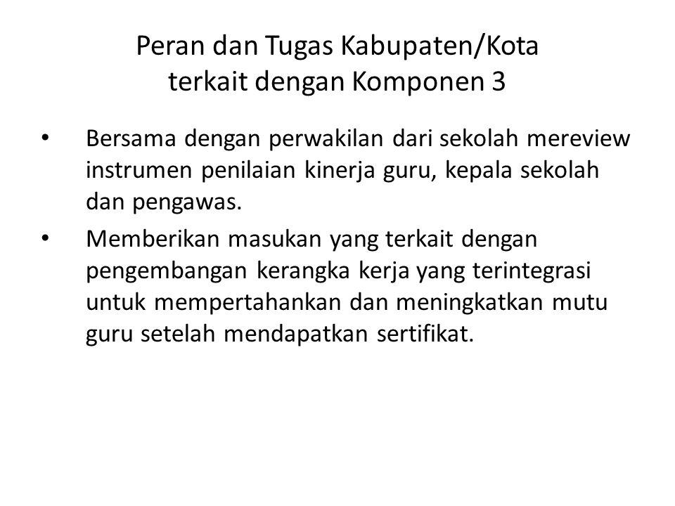 Peran dan Tugas Kabupaten/Kota terkait dengan Komponen 3