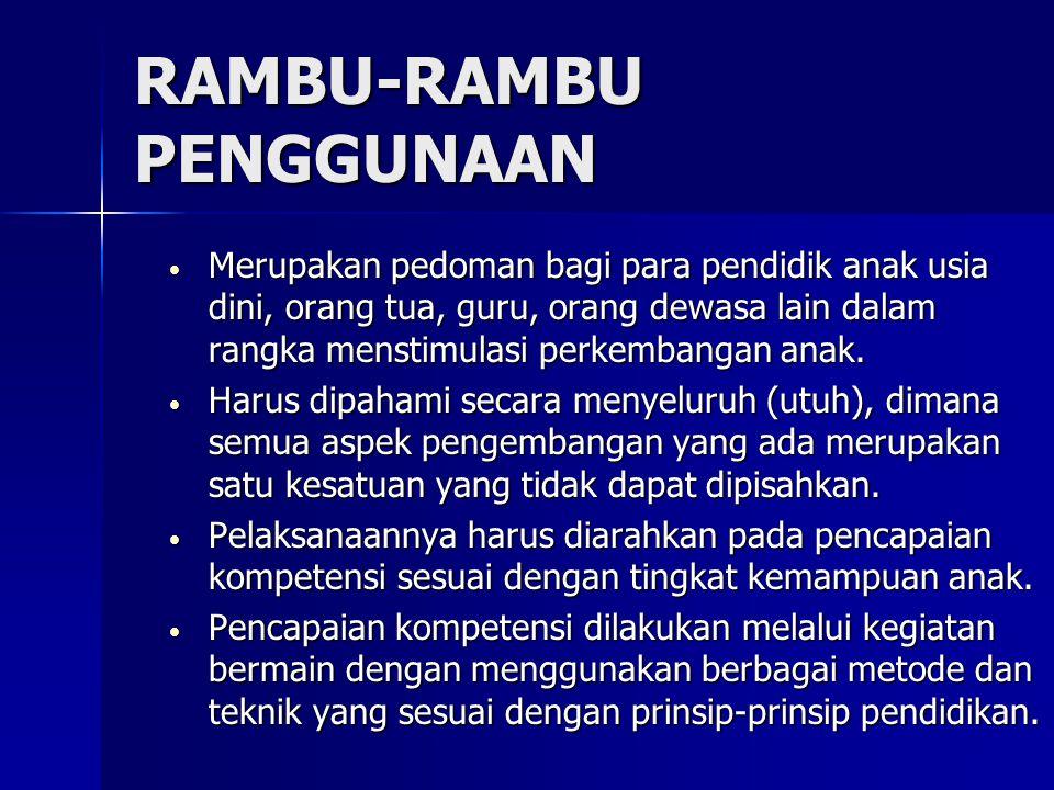 RAMBU-RAMBU PENGGUNAAN